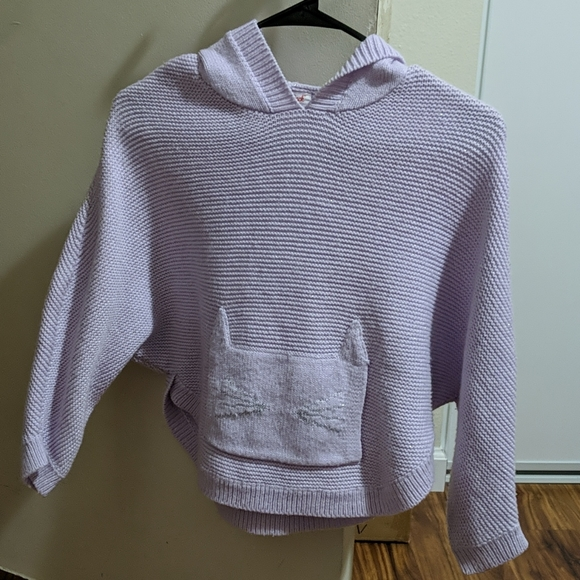 Girls knitted poncho sweater